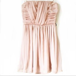 NWT Forever 21 Dusty Pink Strapless Chiffon Dress